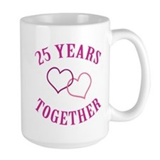 25th Anniversary Two Hearts Mug