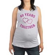 40th Anniversary Two Hearts Maternity Tank Top