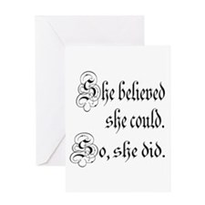 She Believed She Could Medieval Greeting Card