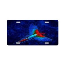 Blue Winged Macaw Aluminum License Plate