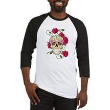 Rose Sugar Skull Baseball Jersey