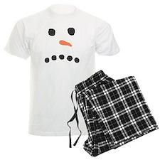 Sad Unhappy Snowman Face Bah Humbug Pajamas