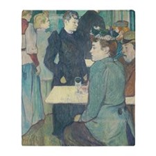 Henri de Toulouse-Lautrec - A Corner Throw Blanket