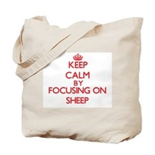 Keep calm by focusing on Sheep Tote Bag