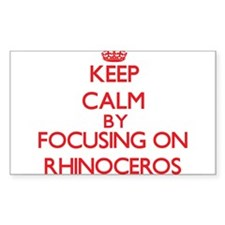 Keep calm by focusing on Rhinoceros Decal
