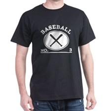 Baseball Player Custom Number 3 T-Shirt