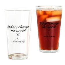 Change the World Drinking Glass