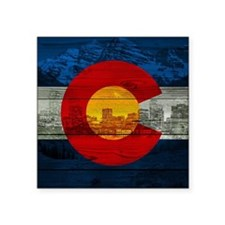 "Colorado Flag Square Sticker 3"" x 3"""