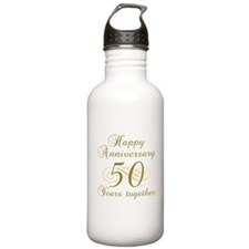 50th Anniversary (Gold Script) Water Bottle
