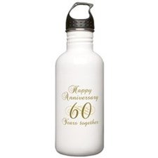 60th Anniversary (Gold Script) Water Bottle