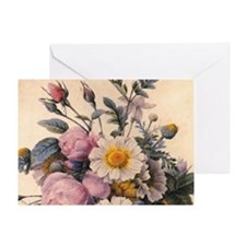 vintage botanical art, beautiful dai Greeting Card
