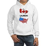 Laurion - America<BR>hooded sweatshirt