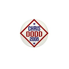 """Chris Dodd 2008 Mini 1"""" Button"""