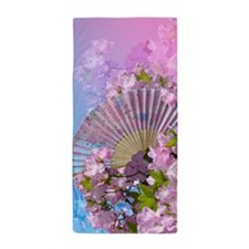 Floral Fan Beach Towel