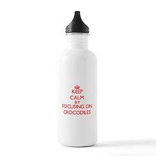 Keep calm by focusing on Crocodiles Water Bottle