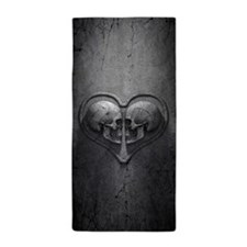 Gothic Skull Heart Beach Towel