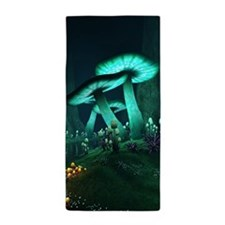 Luminous Mushrooms Beach Towel