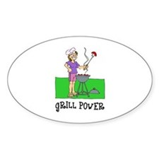 Grill Power Oval Sticker