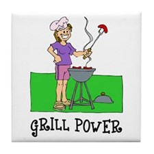 Grill Power Tile Coaster