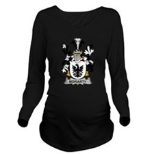 Moriarty Family Crest Long Sleeve Maternity T-Shir