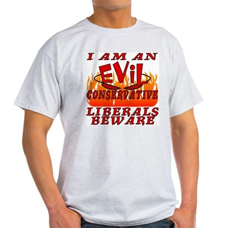 Evil Conservative I Love God's Creatures Grey T