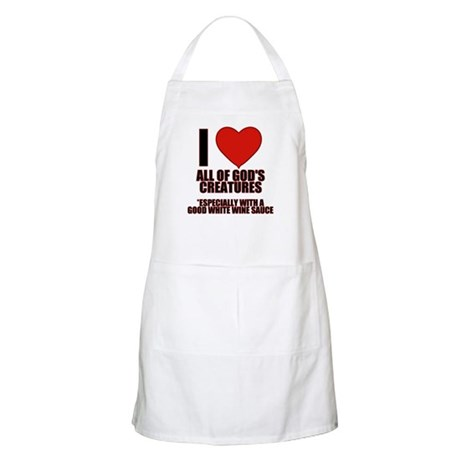 Evil Conservative I Love God's Creatures BBQ Apron