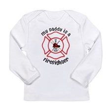 My Daddy Is A Firefighter Long Sleeve T-Shirt