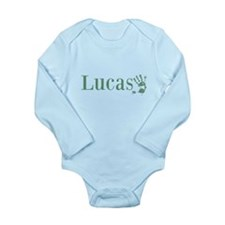 Green Lucas Name Body Suit