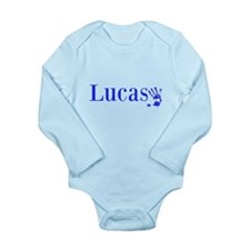 Blue Lucas Name Body Suit