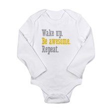 Wake Up Be Awesome Onesie Romper Suit