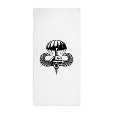 Paratrooper Skull Beach Towel
