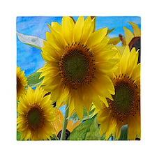 Giant Sunflower Garden Queen Duvet