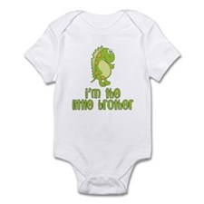 i'm the little brother green Infant Bodysuit