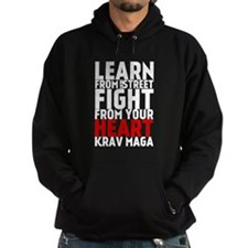 Learn from the street Krav Maga (red heart) Hoodie