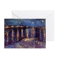 Starry Night over the Rhone, Vincent Greeting Card