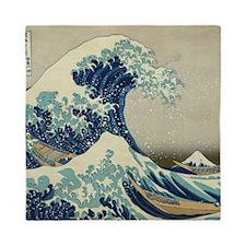 Great Wave off Kanagawa, Japanese art, Queen Duvet