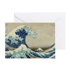 Great Wave off Kanagawa, vintage Jap Greeting Card