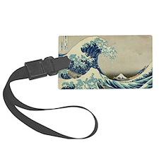 Great Wave off Kanagawa, vintage Luggage Tag