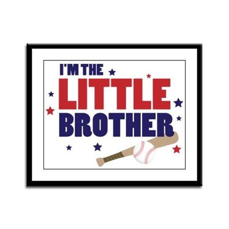 little brother baseball Framed Panel Print