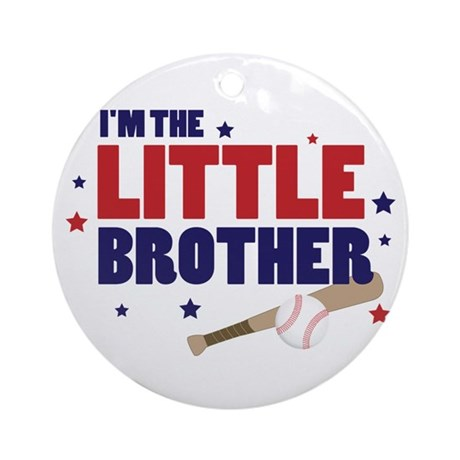 little brother baseball Ornament (Round)