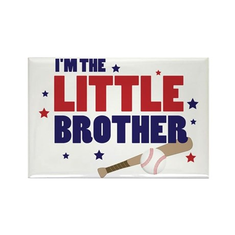little brother baseball Rectangle Magnet