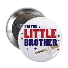 little brother baseball Button