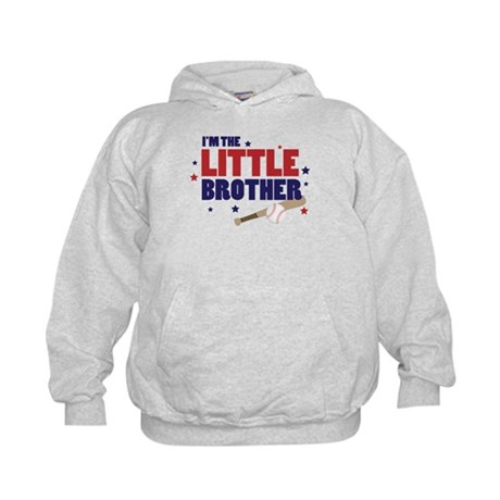 little brother baseball Kids Hoodie