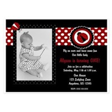 Ladybug Girls Birthday Invitations