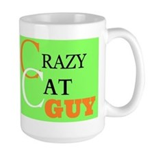 Crazy Cat Guy Mugs