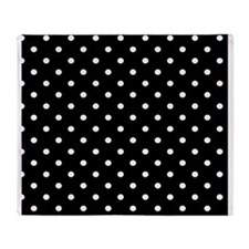 Black and White Polka dots Throw Blanket