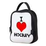 I LOVE HOCKEY Neoprene Lunch Bag