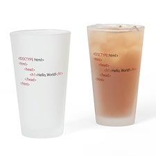 HTML Drinking Glass