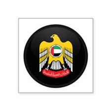 Coat of Arms of UAE Rectangle Sticker
