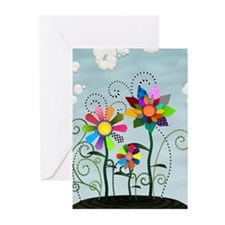 Whimsical Flowers Greeting Cards (Pk of 10)